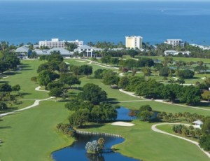 Aerial View of The Naples Beach Hotel & Golf Club (from distance)  (2012)